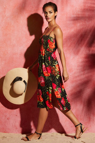 Floral Spot Print Multiway Beach Dress