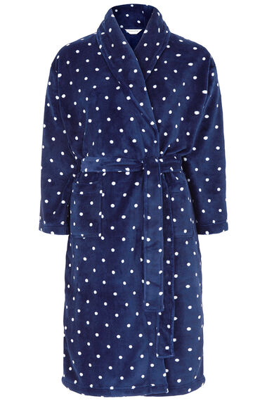 Gift Wrapped Spot Print Dressing Gown
