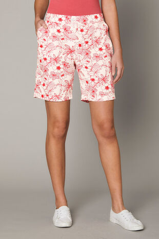 Linear Floral Essential Cotton Shorts