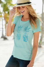 Pineapple Placement Print T-Shirt