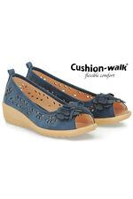 Cushion Walk Peep Toe 3D Floral Slip On Shoe