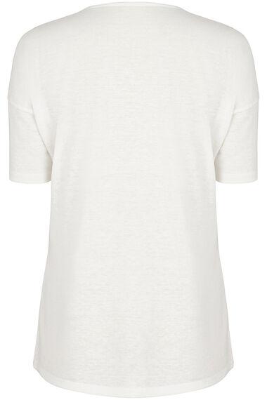 Printed Front Linen Blend Top