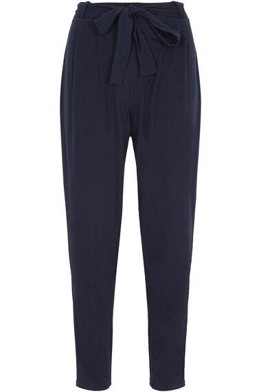 Tie Belt Harem Trousers