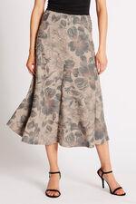 Printed Textured Floral Skirt
