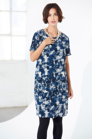 Ann Harvey Watercolour Print Shift Dress