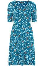 Bird Print Tea Dress
