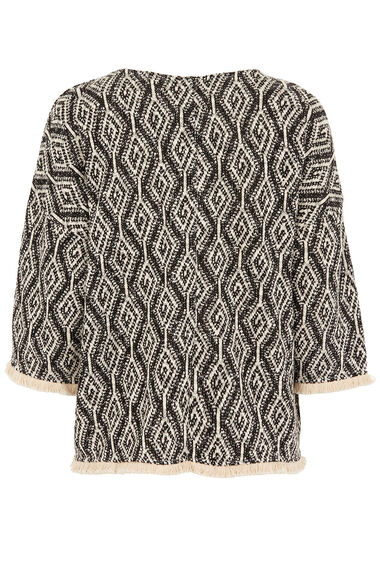 Fringed Textured Top