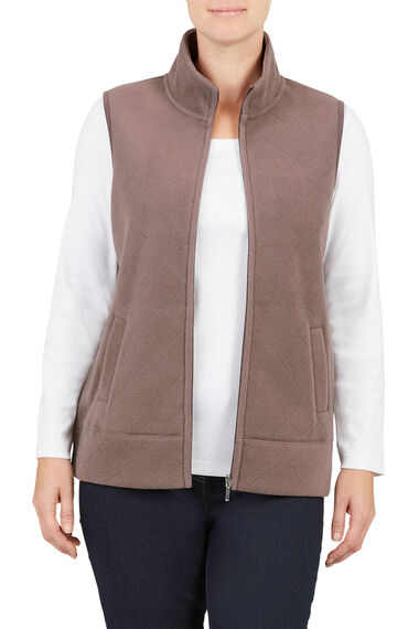 Embossed Style Quilted Gilet