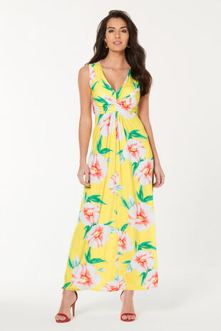 Printed Maxi Dress Shorter Length