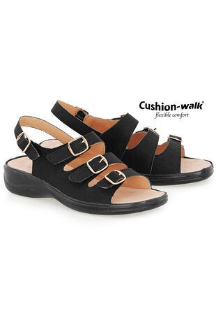 Cushion Walk Buckle Detail Sling Back Sandal