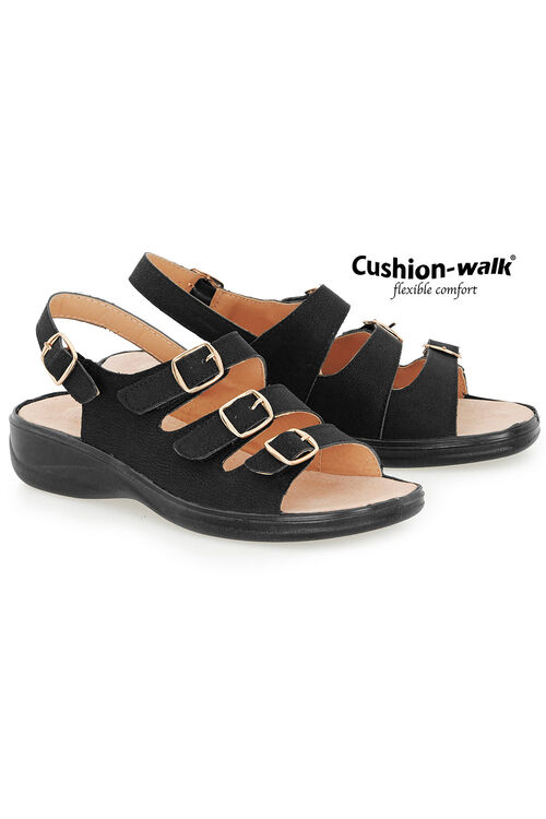 Cushion Walk Buckle Detail Sling Back Sandal
