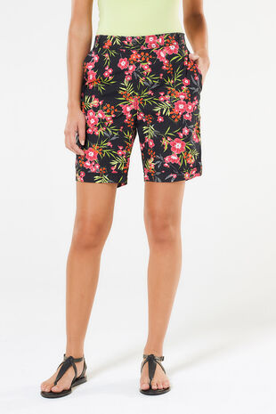 Floral Print Essential Cotton Shorts