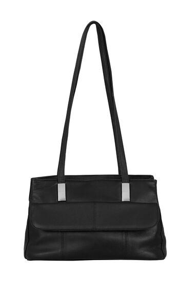 Metal Trim Leather Bag