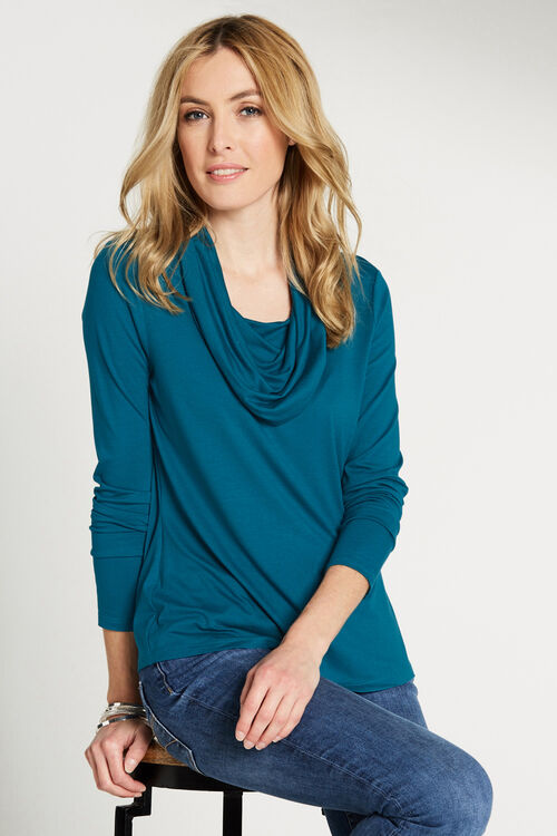 Cowl Neck Jersey Top