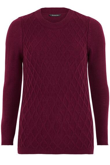Diamond Cable Sweater