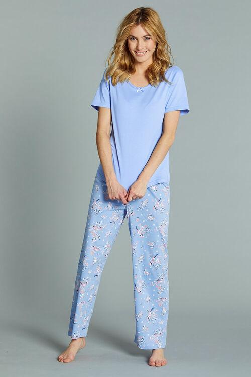 Bird Print Gift Wrapped Pyjama Set
