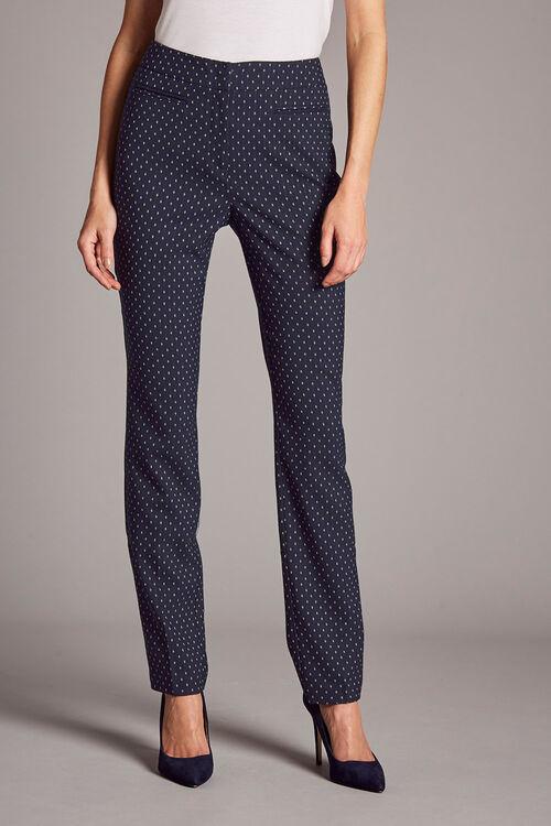 Diamond Jacquard Trousers