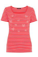 Stripe with Heart Diamantes T-Shirt