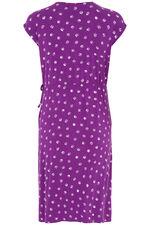 Spot Print Jersey Wrap Dress