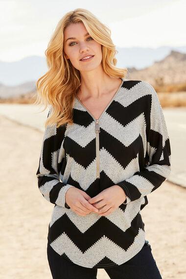 Stella Morgan Zig Zag Print Soft Touch Sweater