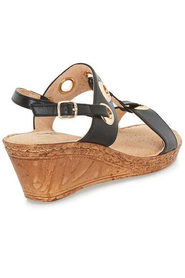 Cushion Walk Sling Back Wedge Sandal with Eyelet Detail