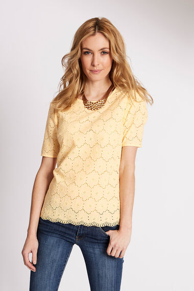 Embroidered Jersey Back Top