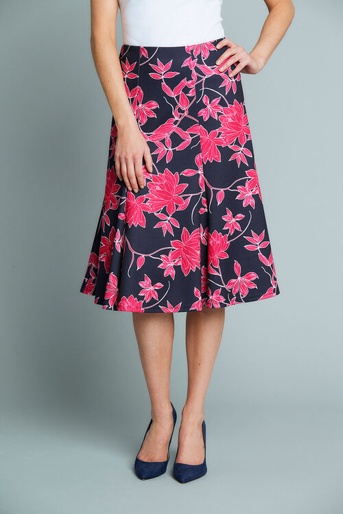 Floral Printed Jersey Skirt