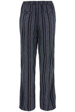 Textured Linen Blend Wide Leg Trousers
