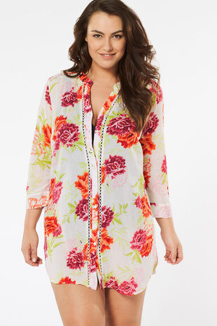 Pure Cotton Lightweight Floral Print Shirt