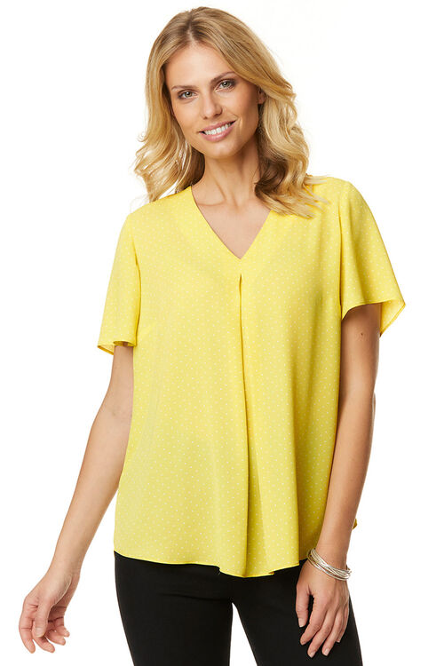 Pin Spot Inverted Pleat Blouse