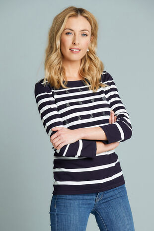 Stripe Jumper with Nautical Embellishment