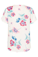 Floral Printed Inverted Pleat Detail Blouse