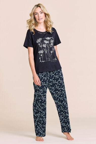 Flower Placement Print Pyjamas