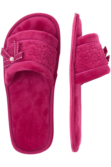 Quilted Open Toe Mule
