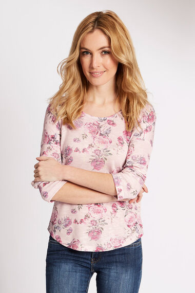Floral Print Knitted Top