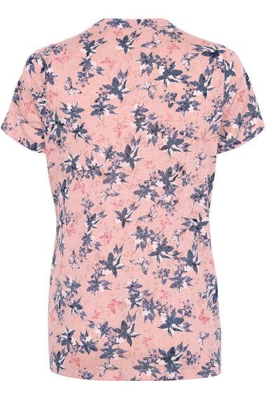 Linear Floral Burnout T-Shirt