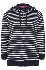Stripe Zip Thru Hoody