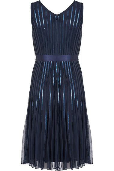 Sequin Detail Fit and Flare Dress