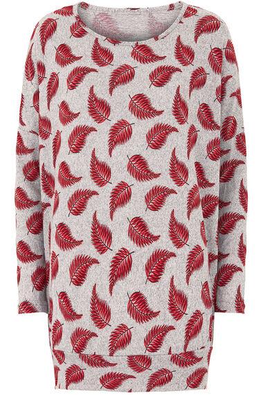Stella Morgan Leaf Print Soft Touch Sweater