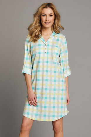 Printed Check Nightshirt