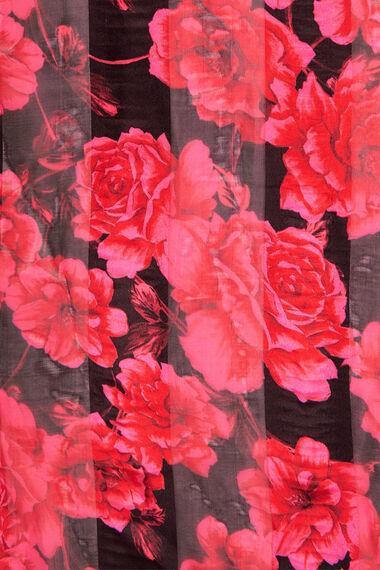 Floral Satin Stripe Scarf