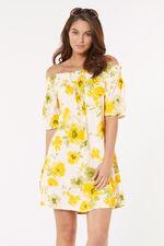 Floral Print Strapless Beach Dress