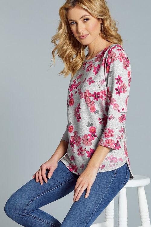 Blossom Print Crew Neck Sweater