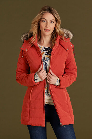Fur Trim Padded Coat