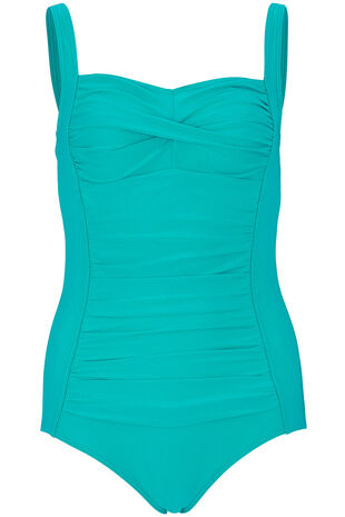 Shimmer Ruched Front Swimsuit