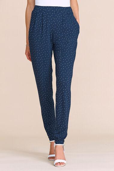 Spot Print Jersey Harem Trousers