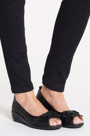 Cushion Walk Peep Toe Slip On Shoe