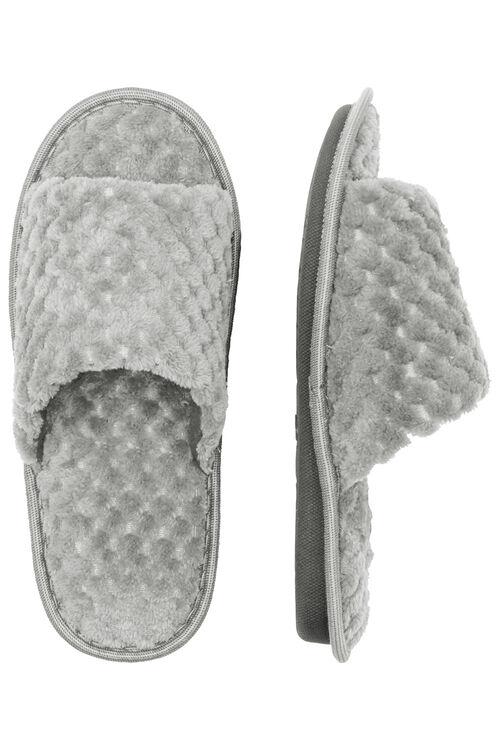 Textured Open Toe Mule