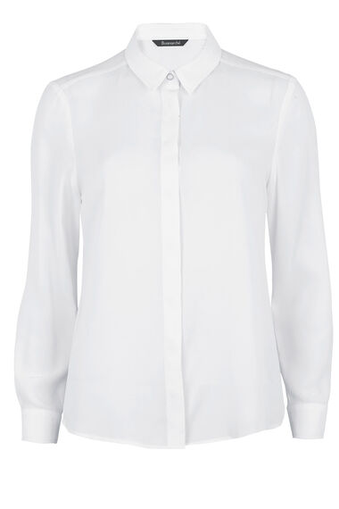 Long Sleeve Concealed Placket Shirt