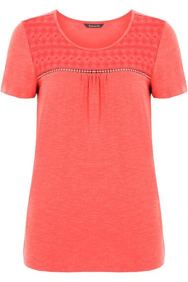 Lace Panel T-shirt